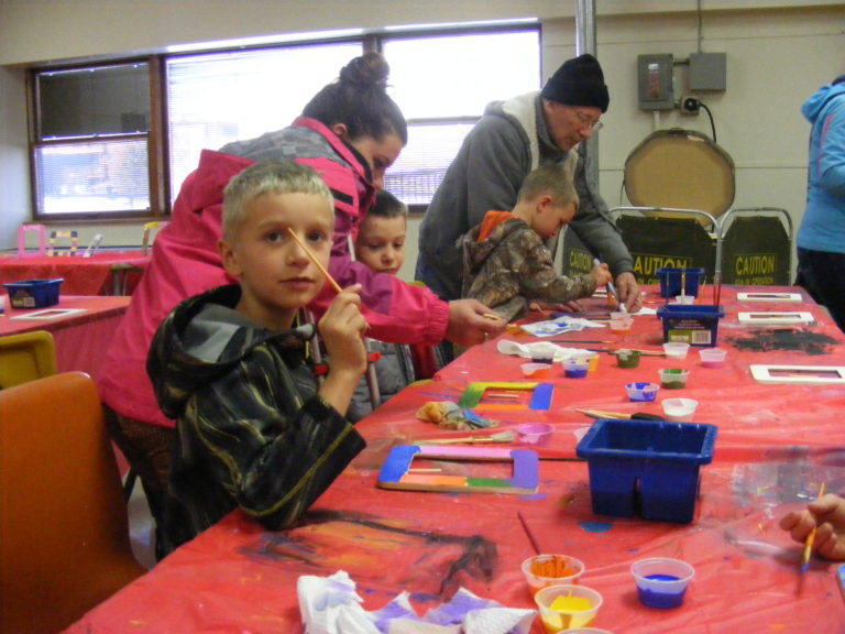 Our art room is the perfect space to plan a messy youth activity!